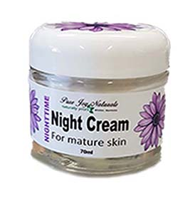 Pure Joy Naturals Night Cream, Natural facial cream, Canadian skin care