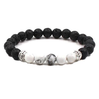 Aromatherapy bracelet, Lava and white bead aromatherapy bracelet, Pure Joy Naturals Aromatherapy bracelet.
